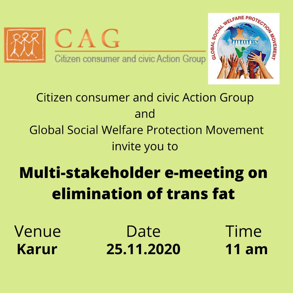 Karur Nov event - trans fat emeeting